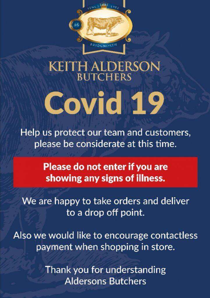 Keith Alderson Butchers Covid 19
